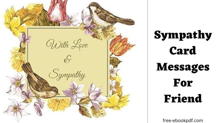 Sympathy Card Messages For Friend