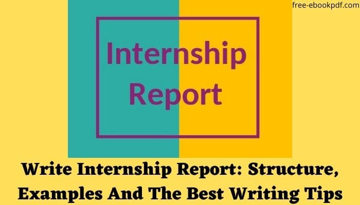 Write Internship Report: Structure, Examples And The Best Writing Tips
